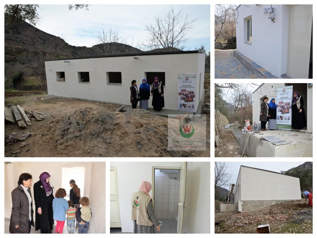kolazh2- Gjate ndertimit te shkolles Tujan
